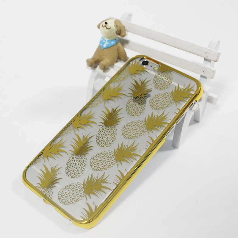 2016 Wholesale Hot Selling Mobile Phone Cover Pineapple Pattern Phone Cover with Laser Plating