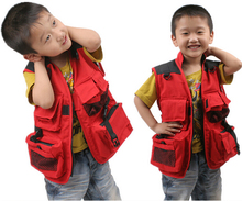 Children's Photography Vest With Multi Pockets