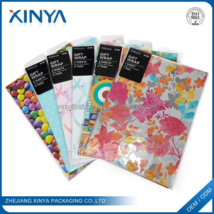XINYA China Packaging Factory Custom Printed Gift Soap Wrapping Paper