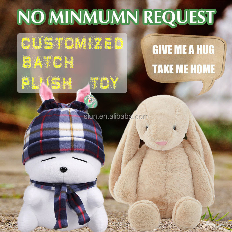 Custom pp cotton plush stuffing rabbit bunny toy for kids