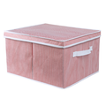 Non-woven fabric stripes pattern storage boxes
