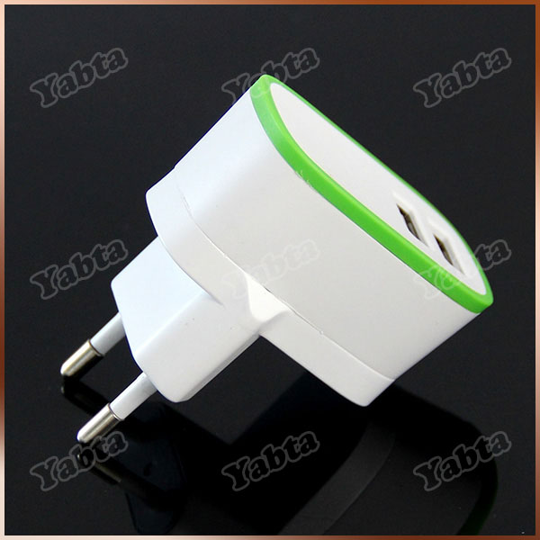 2016 New Best Wall Charger, 2.1A Dual USB EU Travel Charger