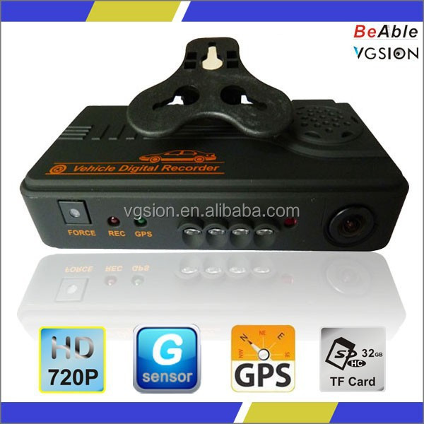 Support WCDMA & CDMA2000 Dual Lens 3G sim slot GPS car camera &DVR