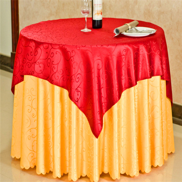 wholesale printed embroidery 120 round plastic tablecloth