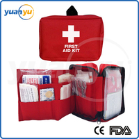 Hot sale CE ISO FDA approved OEM First Aid Kit with 90 items for Travel, Home and Work