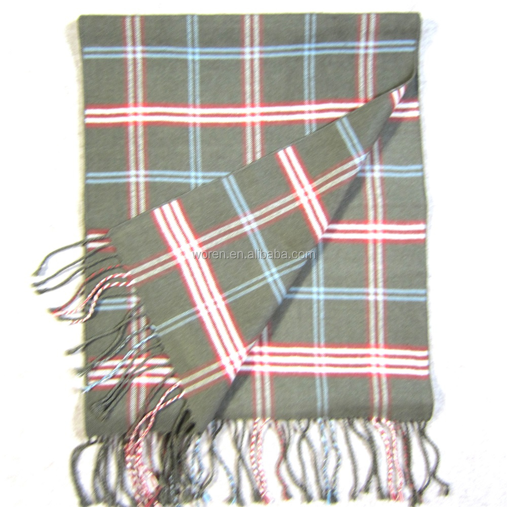 Chinese Silk Stole Wholesale Plaid Scarf
