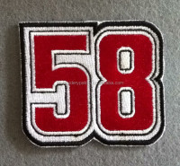 attractive custom embroidered velcro number patches for sport clothing