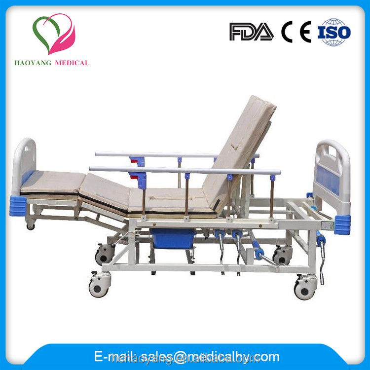 CE Certification Low Price Hospital Bed With Commode Hospital Manual Bed