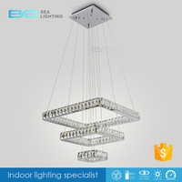 Fancy Chandeliers Big Pendant Lamps Square
