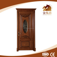 Modern design exterior door , front safety door wooden design , modern solid wood exterior door