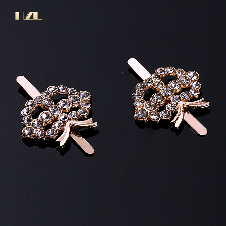 2018 Wholesale Shoe Buckle Clip Decoration Crystal Rhinestone Shoe