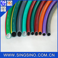 Flexible Green PVC Fiber Reinfoced Garden Hose - 12MM X 50ft with Plastic Fittings or Brass Connectors.