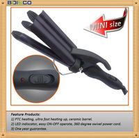 Mini Curling Iron Travel Smart's Dual Voltage Travel Curling iron Constant 450F, Flash Heat Up