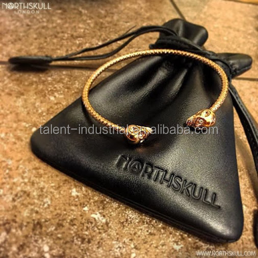 2016 Customized Luxury Black Leather Bag for jewelry,leather jewelry bags