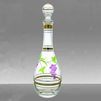 Empty fancy logo decal antique crystal globe glass bottle absolut citron