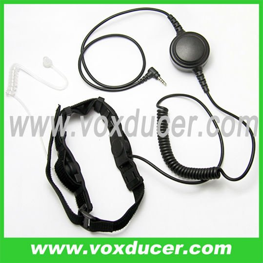 Throat microphone with clear tube for Yaesu Vertex walkie talkie VX-300 VX-350 VXT-20 VXF-1 VX-8G VX-8GR FT-40R FT-50 FT-60