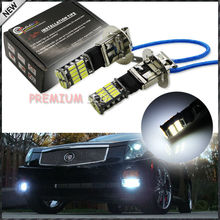 New Style HID Xenon White 26-SMD-4014 H3 LED Replacement Bulbs For Car Fog Lights, Daytime Running Lights, DRL Lamps