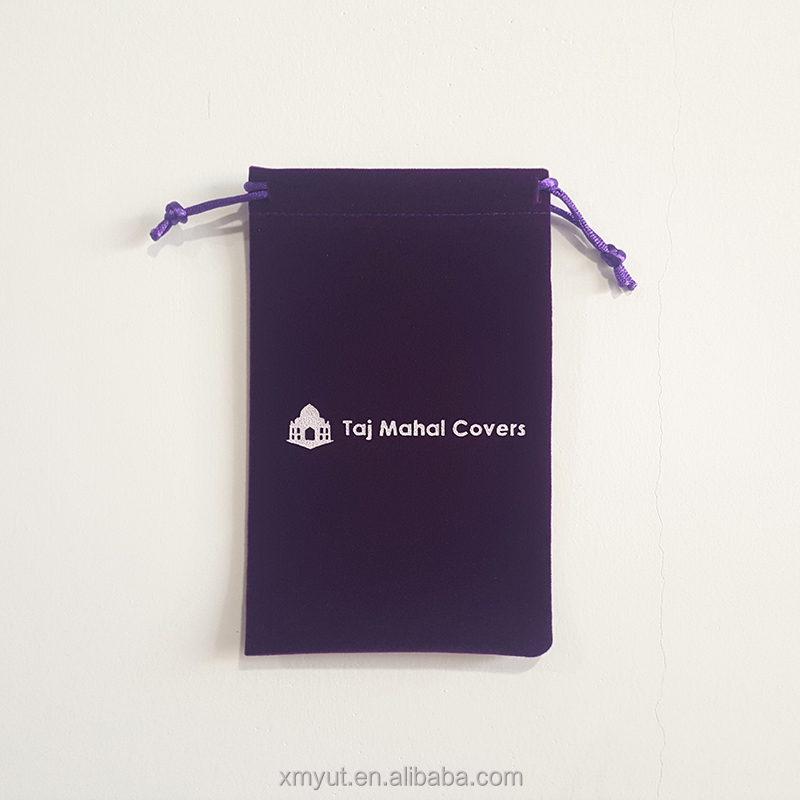 promotional cheap small custom velvet drawstring gift pouch bag