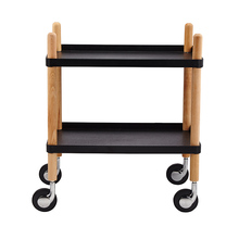 Wholesale high quality rolling serving kitchen storage cart wood leg