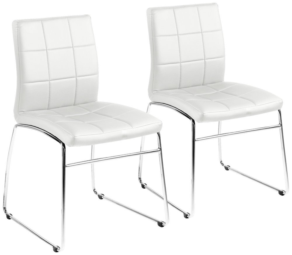 Wholesale modern white Faux Leather Upholstered Dining Room Chair