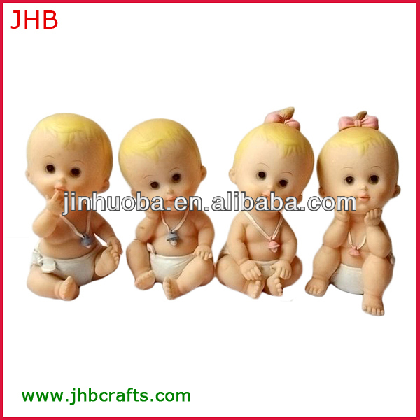 Lovely polyresin baby figurines
