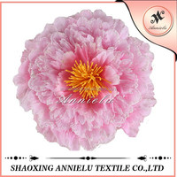 Blush pink giant artificial flower making for sale