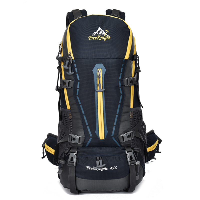 Wholesale customized nature hike brand trolley mountaineering bag manufacturer rucksack
