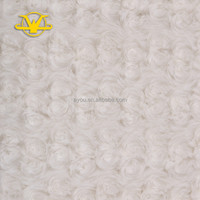 Polyester thick brushing and deying rose fleece blanket fabric