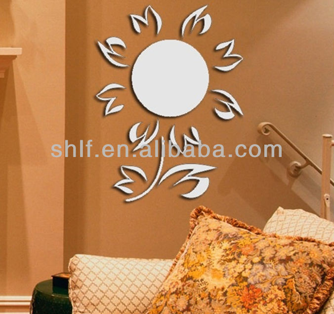 Shanghai lingfeng adhesive decor wall mirror sticker 52