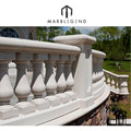 outdoor carving natural stone white baluster