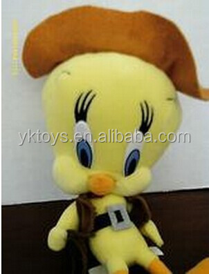 Plush Material and bird Type tweety bird plush toy