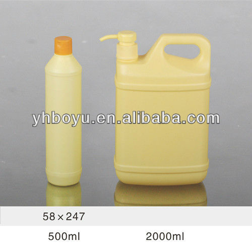 500ml empty bottle,cleanser/essence/washing-up liquid bottle with flit top cap