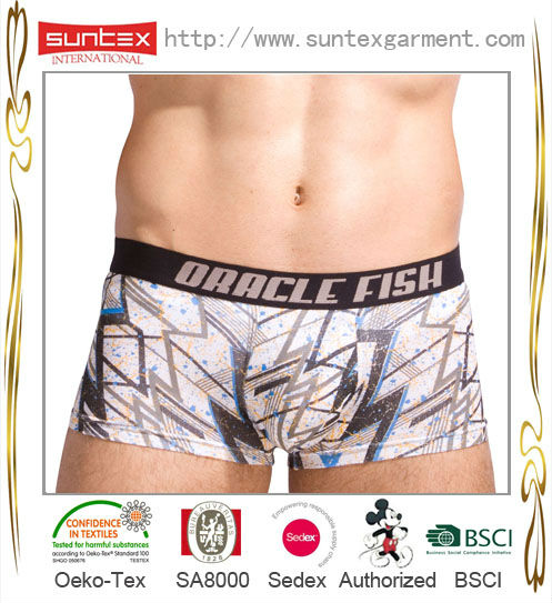 With OEKO certificate men boxer brief bamboo underwear