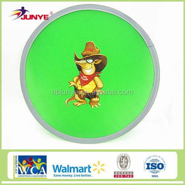 Nylon foldable flying disc magic frisbee from Ningbo junye