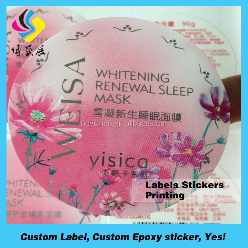 Customized waterproof pvc sticker for surfboard paper label printing sticker paper glossy lamination