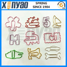 Colorful different shaped paper clip