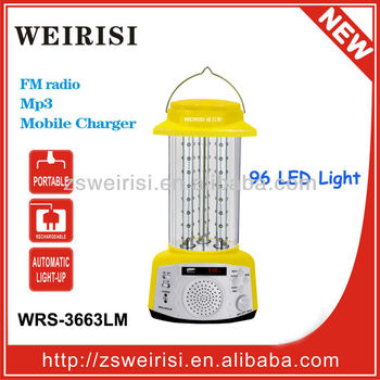 Multifunction LED Rechargeable Hand Lamp with MP3 & Radio (WRS-3663LM)