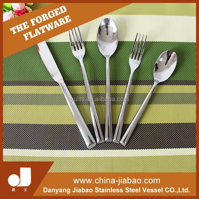 metal hand spoons knifes and forks Stainless steel flatware set personal fork and spoon