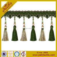 textile home decor rayon beaded curtain long tassel fringe