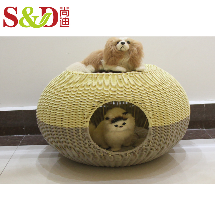 Best seller handmade pet products natural rattan dog pet bed for small animal