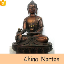 bronze ancient sitting buddha in the meditation post statues NTBH-S053Y