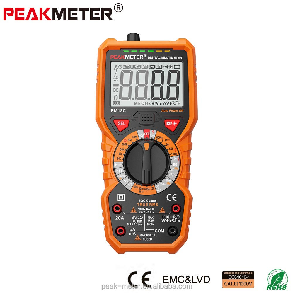 Smartphone repair Digital Multimeter PM18C with temperature test