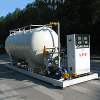 Used gas station products /LPG 10000L storage tank for no-automatic gas filling cylinder filling station
