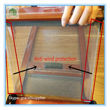 Easy removable washing Aluminum insect screen window with strong anti - wind protection
