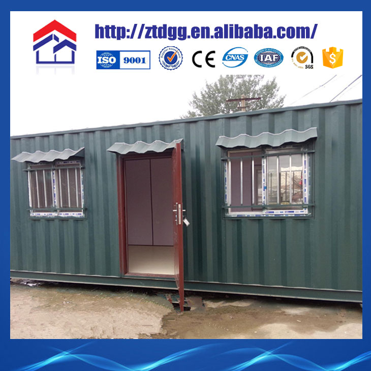 Portable container house with corrugated expansion joint