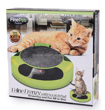 Pet Cat Funny Feline Frenzy Toy with Rotating Mouse, Pet Cat Scratch Pad, Pet Toy Cat Toy