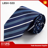 Well selling good quality woven men ties blue striped necktie
