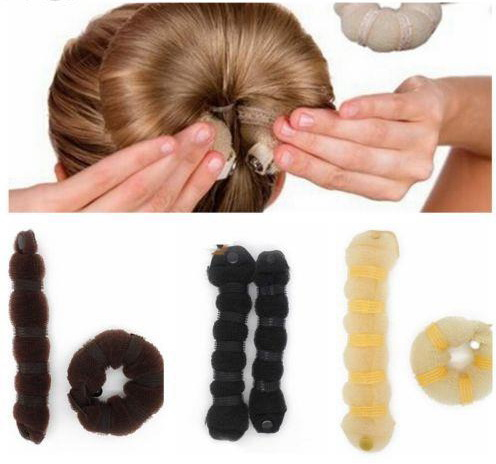 MOON BUNNY Hot Selling Fashion <strong>Hair</strong> Tools Elegant Magic Style Buns <strong>Hair</strong> Rope 3 Colors Hairband <strong>Hair</strong> <strong>Accessories</strong> (1pack=1pc small