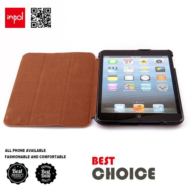 Elegant design case for ipad mini accessories with auto wake magnets