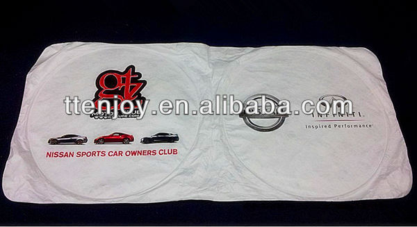 White Tyvek Sunshade With Full Color Printing